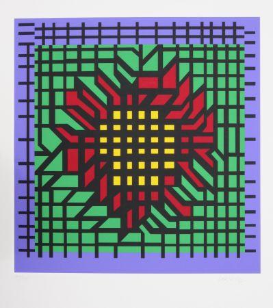 Serigrafía Vasarely - Abstract Composition