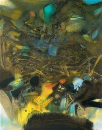 Litografía Chu Teh Chun  - Abstract composition
