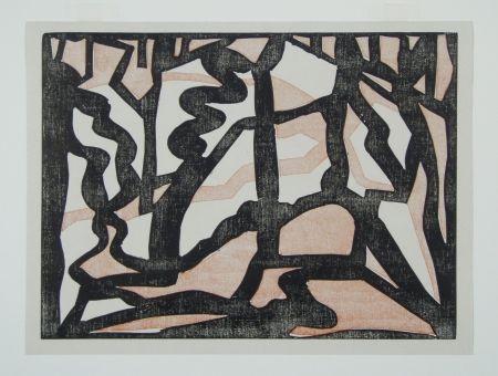 Grabado En Madera Heemskerck,  - Abstract Composition