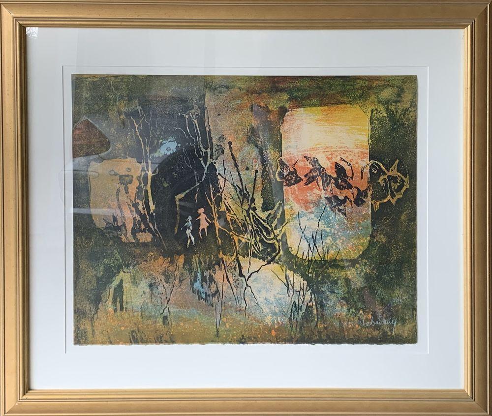 Grabado Lebadang - Abstract Forrest