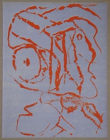 Litografía Alechinsky - Abstract head