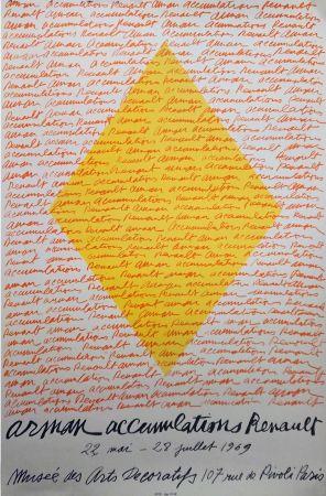 Litografía Arman - '' Accumulations RENAULT ''