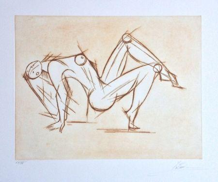 Grabado Kahn - Acrobat