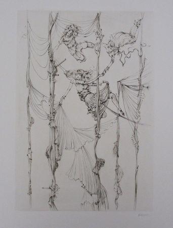 Aguafuerte Y Aguatinta Bellmer - Acrobates