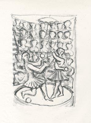 Litografía Campigli - Acrobati (Theseus)