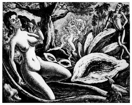 Grabado Alejandro - Adam and Eve