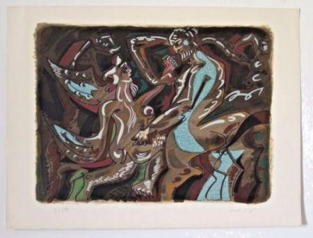 Litografía Masson - ADAM AND EVE