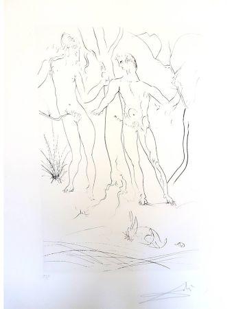 Grabado Dali - Adam et Eve