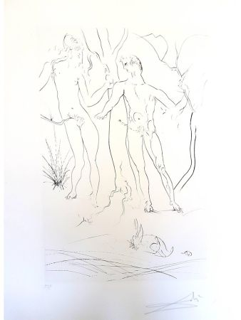 Litografía Dali - Adam et Eve
