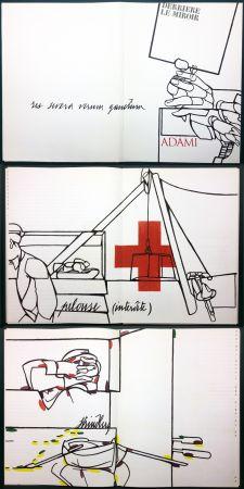 Libro Ilustrado Adami - ADAMI. Le voyage du dessin. DERRIÈRE LE MIROIR N° 214. Mai 1975.