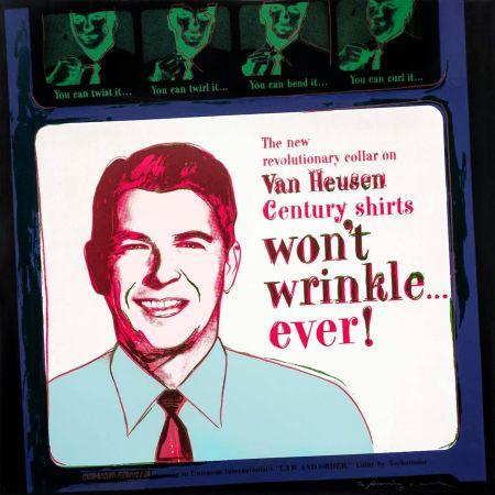 Serigrafía Warhol - ADS: VAN HEUSEN (RONALD REAGAN) FS II.356