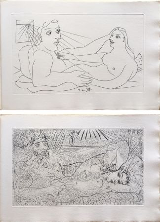Libro Ilustrado Picasso - AFAT. Soixante-seize sonnets (1939).