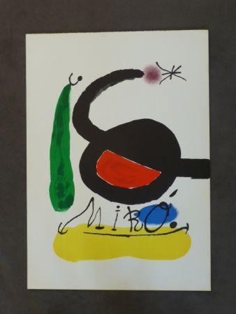 Litografía Miró - Affiche Avant La Lettre Pour Dlm 164/165
