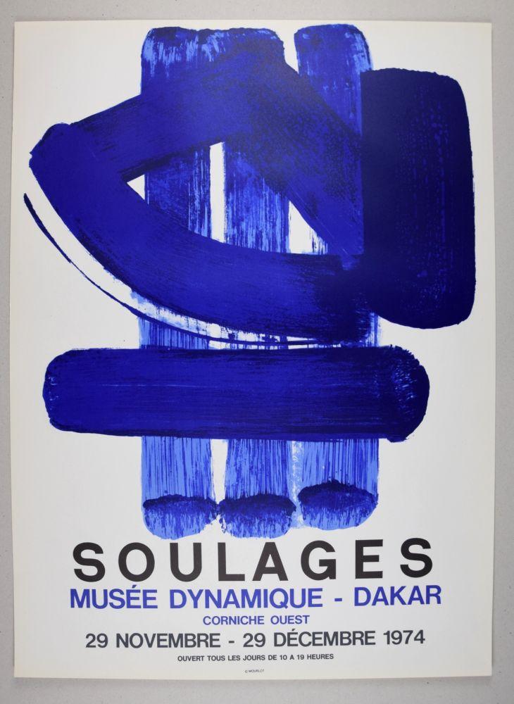 Litografía Soulages - AFFICHE DAKAR