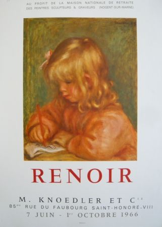 Cartel Renoir - Affiche d'exposition