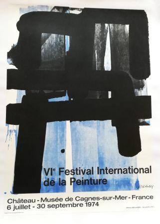 Litografía Soulages - Affiche expo 74