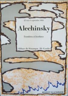 Cartel Alechinsky - Affiche exposition Abbaye de Sénanque