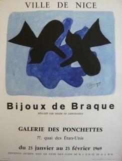 Cartel Braque - Affiche exposition Bijoux de Braque