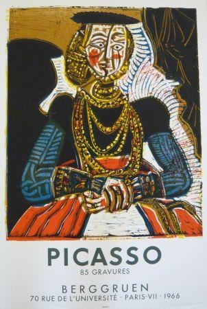 Cartel Picasso - Affiche exposition galerie Berggruen Mourlot