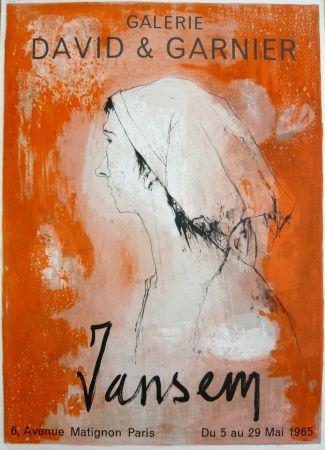 Cartel Jansem - Affiche exposition galerie David & Garnier