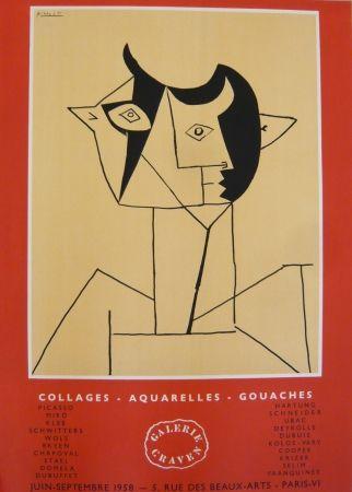Cartel Picasso - Affiche exposition galerie Graven