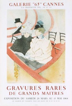 Litografía Toulouse-Lautrec - Affiche exposition Mourlot 1964