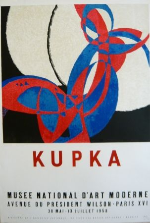 Litografía Kupka - Affiche exposition Musée d'art moderne