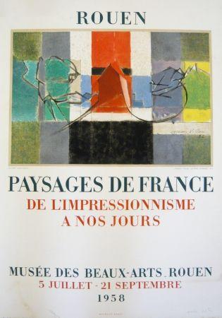 Litografía Villon - Affiche exposition Musée des Beaux-Arts de Rouen