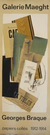 Cartel Braque - Affiche exposition papiers collés galerie Maeght