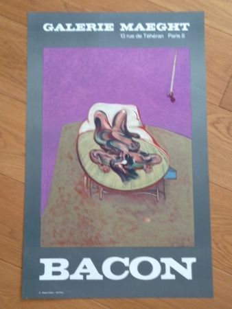 Cartel Bacon - Affiche Galerie Maeght