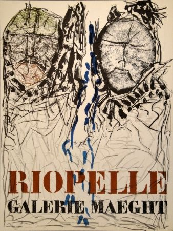 Cartel Riopelle - Affiche Galerie Maeght
