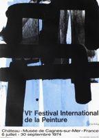 Litografía Soulages - Affiche lithographie exposition cagnes/mer