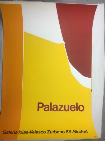 Cartel Palazuelo - Affiche lithographique originale de la Galeria Iolas-Velasco, Madrid. Maeght 1963.