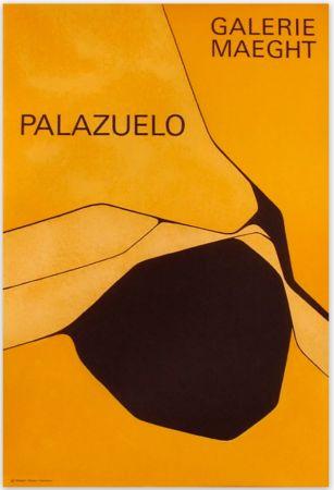 Cartel Palazuelo - Affiche lithographique originale de la Galerie Maeght 1963.