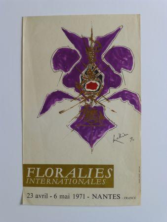Cartel Mathieu - Affiche pour les floralies de Nantes 1971