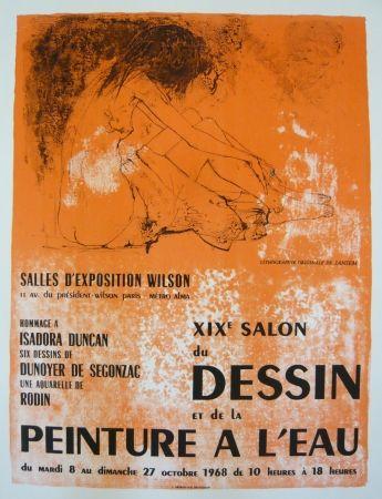 Cartel Jansem - Affiche salon du dessin et de la peinture à l'eau