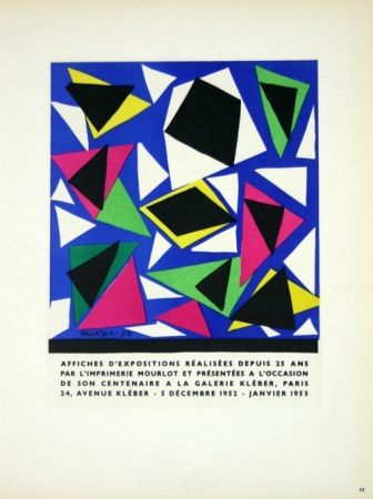 Litografía Matisse - Affiches D'Expositions