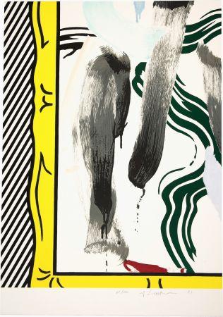Litografía Lichtenstein - Against Apartheid