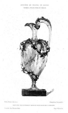Grabado Buhot - Aiguière en cristal de roche