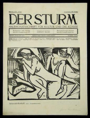 Grabado En Madera Schmidt-Rottluff - Akte (Nudes)