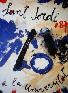 Litografía Guinovart - AL Sant Jordi a la Universitat