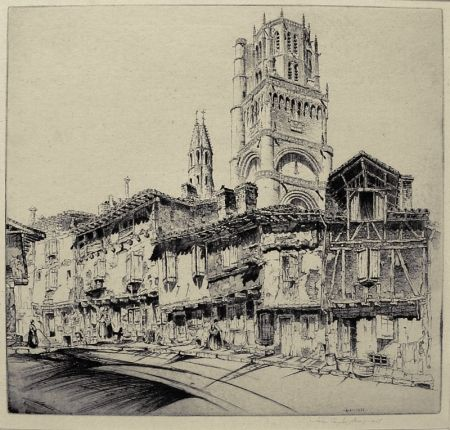 Grabado Arms - Albi (a.k.a. The Cathedral of Ste. Cecile)