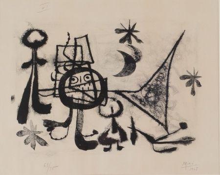 Litografía Miró - Album 13, Plate VI