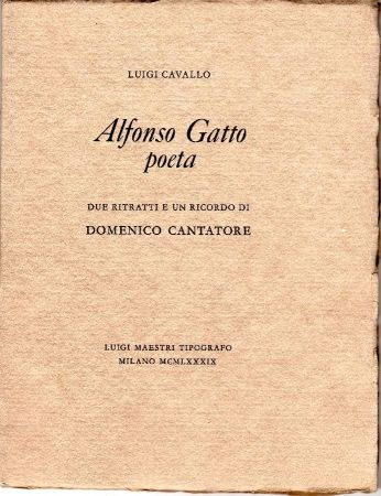 Libro Ilustrado Cantatore - Alfonso Gatto Poeta