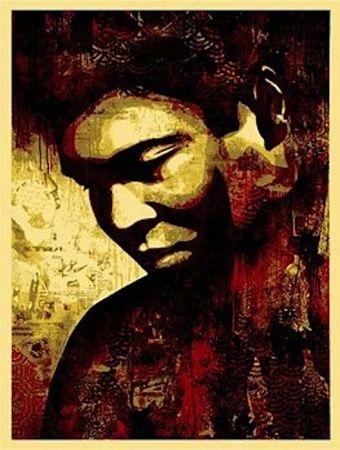 Serigrafía Fairey - Ali Canvas