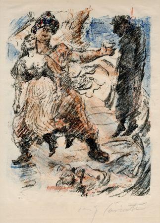 Litografía Corinth - Aline fällt in die Hand der Korsaren