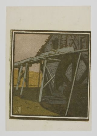 Grabado En Madera Staschus - Alte Mühle (Old Mill)