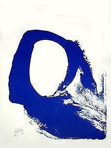 Litografía Jenkins - Amadeus in blue n° 1