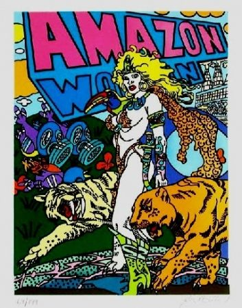 Litografía Erro - Amazone