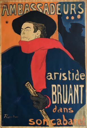 Litografía Toulouse-Lautrec - Ambassadeurs - Aristide Bruant dans son cabaret (création 1892)